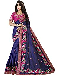 Orangesell Designer Rangoli Silk Saree With Heavy Embroidery Work Saree With Blouse Piece