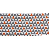 Bacati Triangles Crib/Toddler Ruffles or Skirt, Orange/Grey