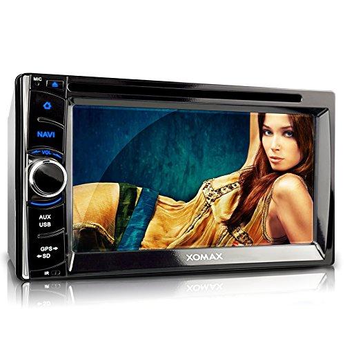 XOMAX XM-2DTSBN6222 Autoradio / Moniceiver / Naviceiver mit GPS Navigation + Navi Software inkl. Europa Karten (38 Länder) + Bluetooth Freisprechfunktion & Musikwiedergabe + 6,2