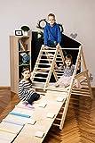 UGi - BUGi palestra per bambini piccoli, Step Triangle, Scala da arrampicata per bambini, Triangolo per bambini, Palestra per bambini, Puoi scegliere senza o con una o due rampe nelle opzioni