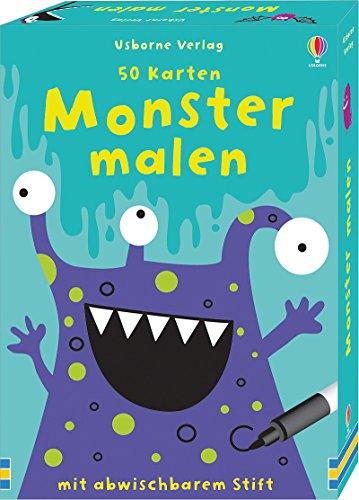 50 Karten: Monster malen: mit abwischbarem Stift -