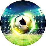 Fußball Thema - 2 Runde Tortenaufleger 20CM - Geburtstag Tortenbild Zuckerbild Tortenplatte Oblate Kuchenzuckerplatte