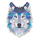 2 x 15cm/150mm Abstrakte Husky Wolf Vinyl SELBSTKLEBENDE STICKER Aufkleber Laptop reisen Gepäckwagen iPad Zeichen Spaß #6214