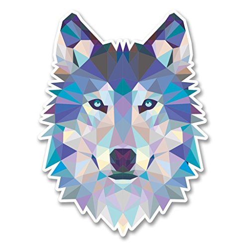 Preisvergleich Produktbild 2x Abstrakt Husky Wolf Vinyl Aufkleber Aufkleber Laptop Reise Gepäck Auto Ipad Schild Fun # 6214 - 10cm/100mm Wide