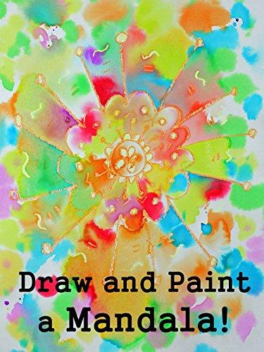 Drawing and Watercolor Painting a Mandala Design for Kids [OV] (Kid Mandala)