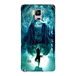 Cute Power Shiva Back Case Cover for Galaxy Note 4