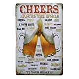Shiningup Letter Words Tin Sign Rétrospective de la Vieille Peinture en métal, Vintage Metal Tin Wall Plaque Poster Poster Ornamental Decor for Coffee Bar Pub Beer