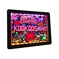 Kookoosmart Led Drawing Board, Erasable Glow Led Light Up Message Writing Board, 36 Glowing Effect with 10 Fluorescent Markers for Kids Children Drawing at School, Home, Outdoor and More