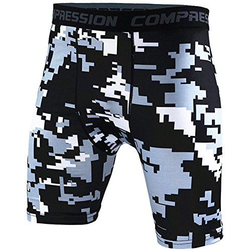 Pantalones Cortos De Compresión – Pantalon Fitness Deportivos Para Hombre