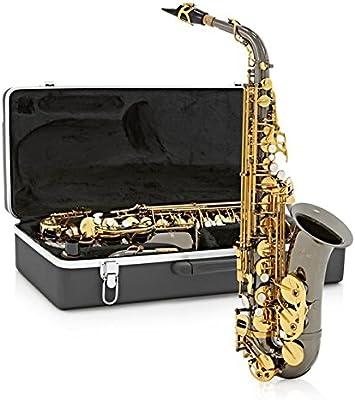 Saxofón Alto de Gear4music - Negro y Dorado