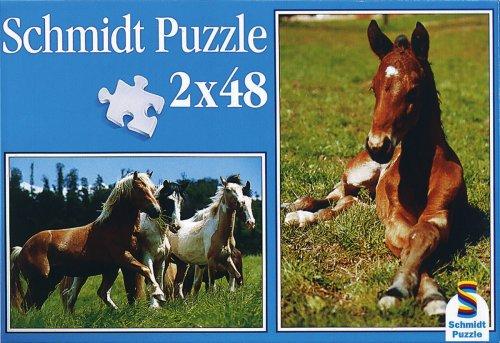 Schmidt Spiele  - Caballos 2 x 48 Piezas