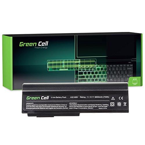 Green Cell® Extended Serie A32-M50 A32-N61 Laptop Akku für Asus G50 G50V G51 G51J G51VX G60 G60JX L50 M50 M50S M50SV M50V M50VC M60 X57 X57V (9 Zellen 6600mAh 11.1V Schwarz)