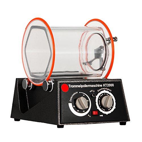 Ambesten Poliermaschinen Jewelry Polisher Tumbler 5Kg Capacity Mini Rotary Tumbler Machine with Timer Jewelry Polisher Finisher for Jewelry Stone (5Kg Capacity)