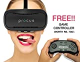 #9: Procus BRAT VR (With Controller) Virtual Reality Headset - 42MM Lenses- Fully Adjustable VR Glasses - VR Headset For VR Video Gaming, Movies, Pictures - Compatible With All 3.5