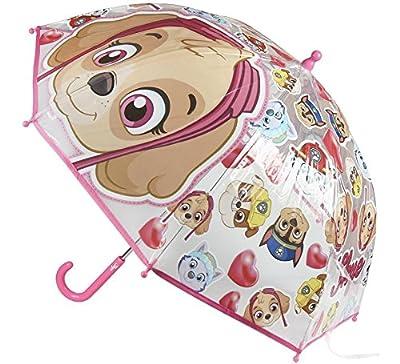 La Patrulla Canina Paraguas Transparente y Rosa de Skye 71 cm por Artesanía Cerdá