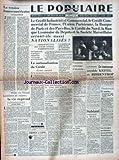 Telecharger Livres POPULAIRE DE PARIS LE No 6778 du 02 12 1945 LA TENSION FRANCO AMERICAINE PAR BLUM LE CREDIT INDUSTRIEL ET COMMERCIAL L UNION PARISIENNE LA BANQUE DE PARIS ET LES AUTRES NATIONALISES NUREMBERG UN TEMOIGNAGE ACCABLE KEITEL ET RIBBENTROP SABIANI CONDAMNE A MORT DETRESSE SOUS L ACROPOLE (PDF,EPUB,MOBI) gratuits en Francaise