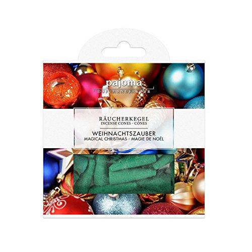 Pajoma Räucherkegel ''Weihnachtszauber'' aus Indien,inkl. Metallhalter, 20er Pack, 10 x 10 cm