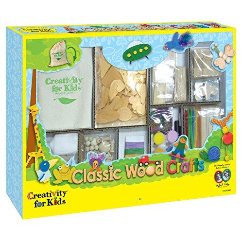 Creativity for Kids CFK1669 - Basteln mit Holz, Kinder-Bastelset