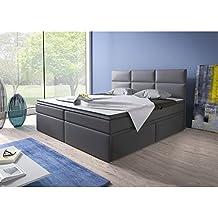 Home Collection24 GmbH Cama con somier (180 x 200 cm, con núcleo de muelles