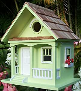 Key lime cottage style novelty bird house bird feeder for Bird house styles