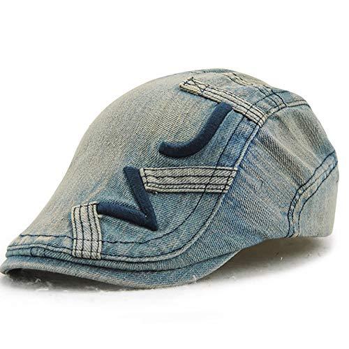 Cap, Vier Jahreszeiten Männliche Und Weibliche Mützen, Eine Vielzahl Von Farben Retro Casual Hat Flache Kappe,B ()
