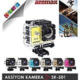 Azemax SK-501(720P) HD Aksiyon Kamera-Sarı