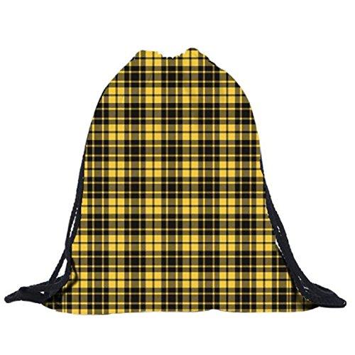 BZLine® Unisex 3D-Druck Polyester Rucksäcke Taschen Tunnelzug Rucksack Tasche, 39cm*30cm C