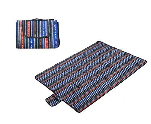 Honeystore 200*150 Polyesterfaser Yoga Matte Strand Ausflug Picknickdecke mit wasserabweisender Unterseite Mehrfarbig-03