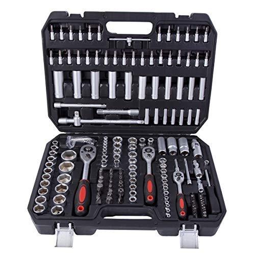 """Powerline® Steckschlüsselsatz Ratschenkasten 1/4\"""" + 3/8\"""" + 1/2\"""" Steckschlüssel-Satz 171 tlg Werkzeugkoffer Werkzeug-Set knarrenkasten"""
