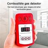 Aolvo Propan/Erdgas Detektor, Hand Verbrennung Gaslecksuchgerät Tester mit Sound Alarm und Digital Display, Monitor Explosive Gas: Methan, Butan, LPG, LNG–batteriebetrieben