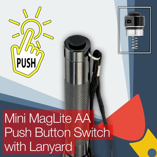 Switch Push-button-cap (Mini MagLite AA Torch/flashlight Push Button (clicky) End/Tail Cap Switch)