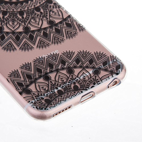 "iPhone 6S Coque,iPhone 6 Bling Case,iPhone 6S Cover - Felfy Ultra Mince Slim Gel TPU Silicone élégant Ultra Thin Bling Plating Case Coque Bumper Cas Housse pour Apple iPhone 6/6S 4.7"" (Losange Violet) Roue Fleur"