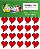 Designer Klebeherzen, aus PVC Folie, wetterfest, Herz Sticker Aufkleber (30 mm, rot)