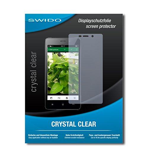 SWIDO Displayschutz für Oppo Joy 3 [4 Stück] Kristall-Klar, Hoher Härtegrad, Schutz vor Öl, Staub und Kratzer/Schutzfolie, Displayschutzfolie, Panzerglas Folie