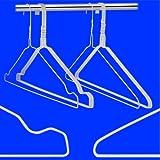 100 Drahtbügel in WEISS Draht-Kleiderbügel mit Einkerbungen - für den