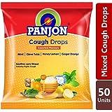 Panjon Cough Drops, Assorted Flavours, Mint, Clove Tulsi, Honey Lemon & Ginger Orange (50 Longenz) Pouch 135g...