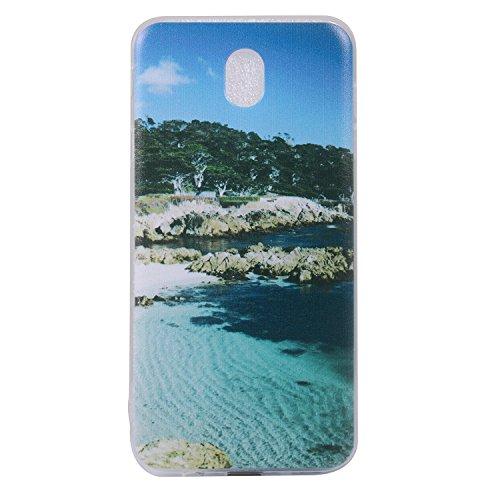 Cozy Hut Samsung Galaxy J7 2017 Hülle, Anti-Fingerabdruck, Anti-Scratch FeinMatt FederLeicht Hülle Bumper Cover Schutz Tasche Schale Softcase für Samsung Galaxy J7 2017 - Landschaft