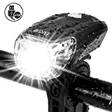 BIGO Luce Anteriore Bici USB Ricaricabile 1200 mAh Fanale per Bici MTB Luce a LED per Bicicletta Resistente all' Acqua Luce Bici per Ottimale Ciclismo Sicurezza