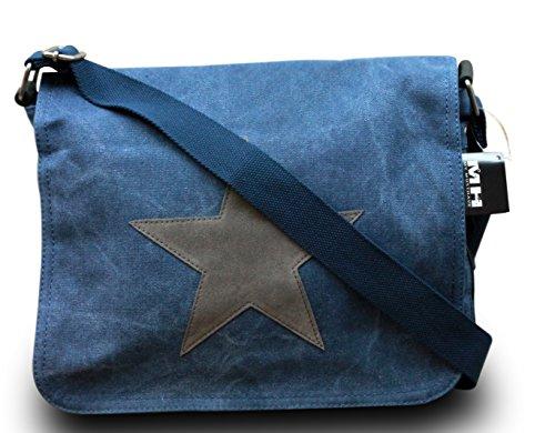 my-musthave-bolso-de-tela-para-mujer-azul-blau-stern-grau-medium