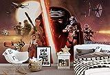 Star Wars Erwachen Macht Kylo Ren - Wallsticker Warehouse - Fototapete - Tapete - Fotomural - Mural Wandbild - (2737WM) - XXL - 368cm x 254cm - Papier (KEIN VLIES) - 4 Pieces