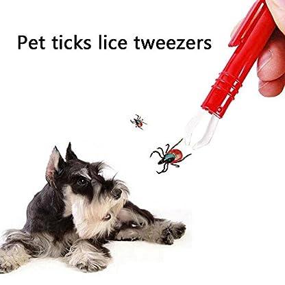 Waterstone 3PCS Tick Remover Tweezers Pet Dog Cat Rabbit Flea Puppies, Mite Acari Tick Remover Flea Eliminate Puppies… 3