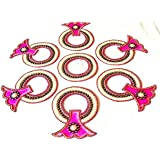 SM Craft Creations Acrylic Kundan Rangoli (Pink)