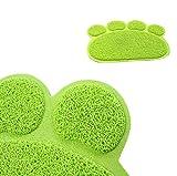 vinmax Pet Dog Puppy Cat Schüssel Futtermatte Pad Süße Paw PVC Bett Food Wasser Feed Tisch-Sets abwischbar - 4