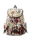 Douguyan Vintage Casual Canvas Travel Bag Backpack Junge Damen Klein Freizeit Rucksäcke Mädchen für Schule Reisen Tasche Women für Laptop bis 14 Zoll Bunt E00125