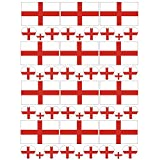 SpringPear 12x Temporär Tattoo von Flagge Englands für WM 2018 Internationale Wettbewerbe Wasserfeste Fahnen Tätowierung Fan Set (12 Pcs)