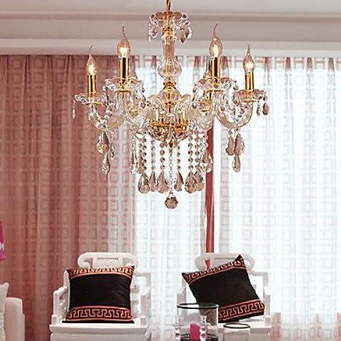 Fx@ MAX:60W Tradizionale/Classico Cristallo Oro Metallo Lampadari Camera da letto / Sala da pranzo / (Ferro Battuto Tradizionale Lampada Da Terra)