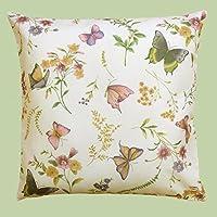 """De primera serie """"mariposas en el campo de flores"""" de colour crema con delicados tonos pastel - una pieza de joyería en cualquier habitación - se puede elegir mediano de lámpara de techo, de mesa y de la funda de almohada - de el KAMACA-SHOP, poliéster, creme - bunt, Kissenbezug 40x40 cm"""
