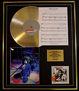 MARC BOLAN/CD GOLD DISC, SONG SHEET & PHOTO DISPLAY/LTD. EDITION/COA/ALBUM, GREATEST HITS /SONG SHEET, 20TH CENTURY BOY