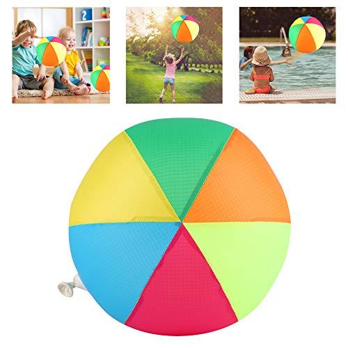 VGEBY1 Aufblasbarer Stoffball, DREI Farbwahl Fantastischer Stoff Wasserball mit Aufblasbarem für Kinderspiel im Freien(Regenbogen) (Spielen Im Park Freien)
