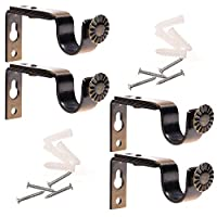 Ogrmar Bronze Color Heavy Duty Curtain Rod Brackets for 3/4 or 5/8 Inch Rod 4 Pack Gold unknown